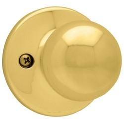 "Door Knob, Polo, Half Dummy Trim/Surface Mount, 2-5/8"" Diameter x 2-32/23"" Depth, Polished Brass"
