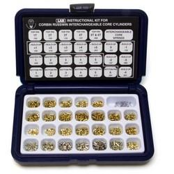 "Cylinder Lock Interchangeable Core Kit, DUR-X/Corbin/Russwin, Large Format, Mini, 8"" x 5"" x 1-3/4"", Polyethylene"