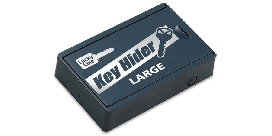 "Magnetic Key Hider, Large, 1-7/8"" Length x 3"" Width x 5/8"" Height, Plastic, Black, 1 each per Card"