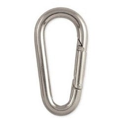 "Key Interlocking Snap, 200 Lb, 2-3/8"" Length x 1-1/4"" Width, Steel, Zinc Plated, Carded"