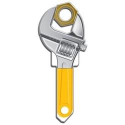 House Key, Kwikset, Wrench, Brass, Enamel Coating, 1 each per Card