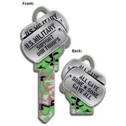 House Key, Kwikset, Dog Tags, Brass, Enamel Coating, 1 each per Card
