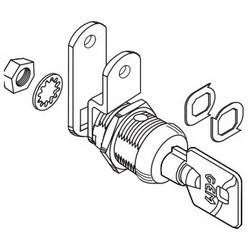 "Cam Lock, High Security, Tubular Key, Multi-Function, 7-Pin Tumbler, Keyed Different Keying, 1/2"", Nickel Plated"