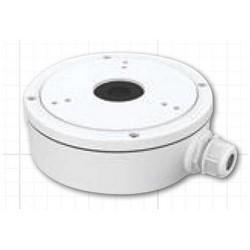 "Bullet and Dome Camera Back Box, Waterproof, 5.39"" Diameter x 2.03"" Height, Aluminum Alloy, White, For IP3B/IP4B/TVIBIR65/TVIEIR60"