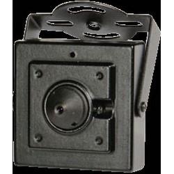 Mini Cased Camera, Full HD, TVI, CVI, AHD, 960H Analog, 1920 x 1080p Resolution, 3.7 MM Cone Pinhole Lens, 12 Volt DC, 100 Milliampere, Aluminum, Black