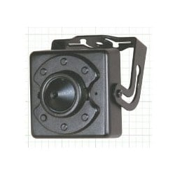 Ultra Miniature Camera, OSD, NTSC, DWDR, DNR, Indoor, Day/Night, 700 (Color)/800 TVL (Black and White) Resolution, Conical Pinhole 3.7 MM Lens, 12 Volt DC, Metal Case, Black