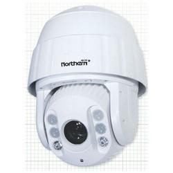 "Outdoor IR Camera, HD-TVI, PTZ Dome, 1080p Full HD Resolution, 30X Optical Zoom, 2MP CMOS Sensor, 24 Volt AC, 30 Watt, 395' IR Range, 8.66"" Diameter x 13.91"" Height, White, IP66"