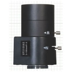 "Varifocal Lens, CS Mount, 2"" Width x 2.7"" Height, 1.5"" Diameter Barrel, 50 to 100 MM Focal Length, Metal"