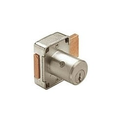 "Cabinet Deadbolt Door Lock, Keyed Alike, 4-Pin Standard, 7/8"" Diameter x 1-3/8"" Length Barrel, Die-Cast Zinc, Satin Chrome Plated, With 107 Key"