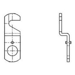 "Door Lock Cam, Hook, 1-1/2"" Length, 5/16"" Offset, For 3/4"" Diameter DCN/DCR/B7 Series Cam Lock"