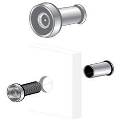 "Door Viewer, 190 Degree, 1/2"" Diameter Barrel, Clear Lens, Solid Brass, Chrome Plated"