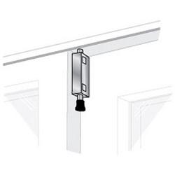 "Patio Door Lock, Large Rectangular, 6"" x 1-1/8"", White, With (2) Key, For Interior and Exterior Sliding Door"
