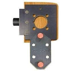 Cylindrical Lockset Template, Arrow Sierra H, Solid Aluminum, Black Anodized