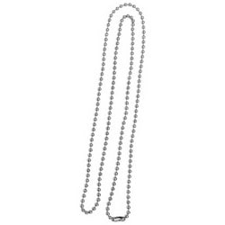 "Beaded Key Chain, 30"" Length, Metal, 1 per Card"