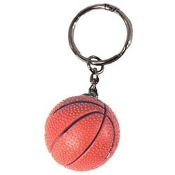 """Basketball Key Chain, With 1.25"""" Key Ring, 1 per Card"""