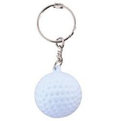 "Golf Ball Key Chain, With 1.25"" Key Ring, 1 per Card"