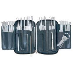 Lock Pick Set, 62-Piece, Includes Array of Hook, Diamond, Ball, Rake, Broken Key Extractor, (6) Tension Wrench, PKX-WP5 Warded Pick Set