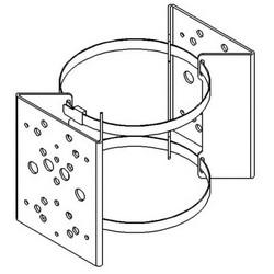 Illuminator Pole Mounting Bracket Clamp, Double-Sided, For 2X RAYMAX and RAYLUX Illuminator