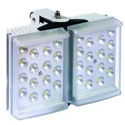 "Light Illuminator, 2-Panel, RAYLUX, 100 to 230 Volt AC, 50 Watt, 32-LED, White Light, 50 to 100 Degree, 8"" Length x 6"" Width x 3"" Depth, Silver, With PSU"
