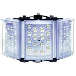 "Light Illuminator, 3-Panel, RAYLUX, 100 to 230 Volt AC, 75 Watt, 48-LED, White Light, 30 to 90 Degree, 12"" Length x 5"" Width x 2"" Depth, Silver, With PSU"