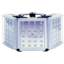"Light Illuminator, 3-Panel, RAYLUX, 100 to 230 Volt AC, 120 Watt, 72-LED, White Light, 50 to 180 Degree, 16"" Length x 8"" Width x 3"" Depth, Silver, With PSU"