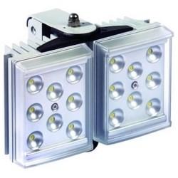 "Light Illuminator, 2-Panel, RAYLUX, 100 to 230 Volt AC, 25 Watt, 16-LED, White Light, 120 to 180 Degree, 6"" Length x 4"" Width x 2"" Depth, Silver, With PSU"