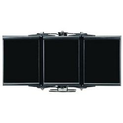 "Panoramic Infrared LED Illuminator, 3-Panel, RAYMAX, 100 to 230 Volt AC, 165 Watt, 72-LED, 850 NM Wavelength, 60 to 180 Degree, 16"" Length x 8"" Width x 3"" Depth, Black, With PSU"