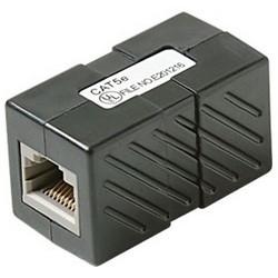Ethernet Cable Coupler, Cat 5E, RJ45 to RJ45 Jack, Black