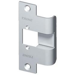 "Door Electric Strike Faceplate, Extended, 1-1/4"" Width x 1"" Depth x 4-7/8"" Height, Satin Stainless Steel, For Wood Door"