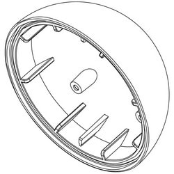 """Mini-Dome Camera Mount Pendant Cap, Indoor/Outdoor, 3/4"""" Threaded, White"""