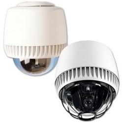 """Dome Camera Housing, Indoor, 4 Alarm Input, 1 Output, 9.61"""" Diameter x 12.64"""" Height, With Integrated I/O Board, Clear Bubble"""