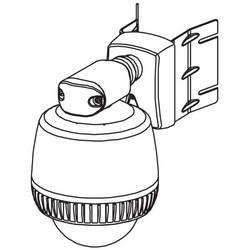 "Dome Camera Bracket Adapter, Corner Wall Mount, 8"" Width x 5"" Depth x 7"" Height, Powder Coated Aluminum"