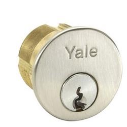 Lock Cylinder, 6-Pin, GA Keyway, 0-Bit, Satin Chrome Plated, For Exit Device Trim/Mullion