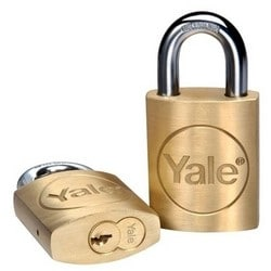 "Auxiliary Padlock, Pacific Beach, 6-Pin Cylinder, 3/8"" Diameter x 3-3/4"" Height, 1-1/16"" Shackle Clearance, Molybdenum Alloy steel Shackle, Without Large Format Core"
