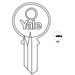 "Lock Key Blank, 7-Pin, Standard Bow, Single Section, GB Keyway, 0.51"" Pin Tumbler, Nickel Silver"