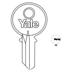 "Lock Key Blank, 6-Pin, Standard Bow, Single Section, SE Keyway, 0.51"" Pin Tumbler, Nickel Silver"