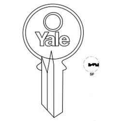 "Lock Key Blank, 6-Pin, Standard Bow, Single Section, SF Keyway, 0.51"" Pin Tumbler, Nickel Silver"