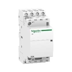 Modular Contactor, Clip-On, Tunnel Terminal, 4NC, 220 - 240V AC, 50 Hertz, 4-Pole, 25 Amp, 1.6 Watt, 36 MM Width x 60 MM Depth x 81 MM Height, White