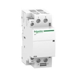Modular Contactor, Clip-On, Tunnel Terminal, 2NO, 220 - 240V AC, 50 Hertz, 2-Pole, 40 Amp, 1.6 Watt, 36 MM Width x 60 MM Depth x 85 MM Height, White