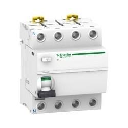 Residual Current Circuit Breaker, Class AC, Instantaneous, DIN-Rail/Clip-On Mount, Single Terminal, 220 to 240 Volt AC, 50/60 Hertz, 4-Pole, 25 Ampere, 30 Milliampere Sensitivity