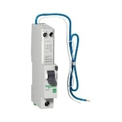 Residual Current Device, B Curve, Overcurrent Protection, 230 Volt AC, 50 Hertz, 1-Pole+Neutral+Switched, 16 Ampere, 30 Milliampere Sensitivity, 6 Kiloampere Breaking Capacity