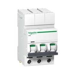 Miniature Circuit Breaker, C Curve, Thermal Magnetic, Rail/Plug-On Mount, Single Terminal, 240 Volt AC, 50/60 Hertz, 3-Pole, 20 Ampere, 10 Kiloampere Breaking Capacity