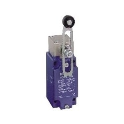 Limit Switch, Snap Action, Fixed Body, Rotary Head, 2-Pole, 1NC-1NO, Plastic Roller Lever (Variable Length), Metal
