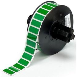 """Patch de l'étiquette en face, soulevées, plaque adhésive, gravé, Rectangle, 1,06"""" largeur x 0,49"""" hauteur, 0,7 MM Thk, Polyester, brillant vert, 500 par rouleau"""