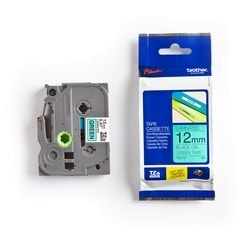 Brother TZE731 Black on Green 12 mm Tape for P-touch, 8 m