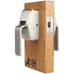 "Door Push/Pull Latch, 5"" Backset, 2-11/16"" Width x 2-7/8"" Depth x 4-7/16"" Height, Satin Stainless Steel, For Hospital"