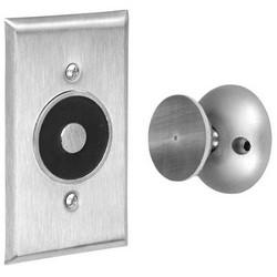 "Electromagnetic Door Holder Wall Mount, Flush, 2-3/4"" Width x 1/4"" Depth x 4-5/8"" Height, Satin Aluminum"