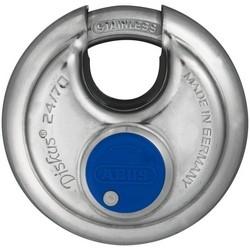 "Security Padlock, Diskus, Keyed Alike, 2-3/4"" Diameter, 25/64"" Shackle Diameter, With 0142 Key"