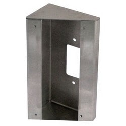 Video Door Station Mounting Box, 30 Degree Angle, Surface Mount, 8 Gauge Stainless Steel, For AX-DV Video Door Station