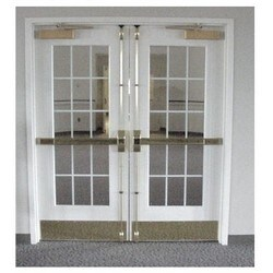 """Door Window Frame, Vision Lite, 3/16 to 1/4"""" Glass, 24"""" Width x 30"""" Height, Mineral Bronze Powder Coated"""